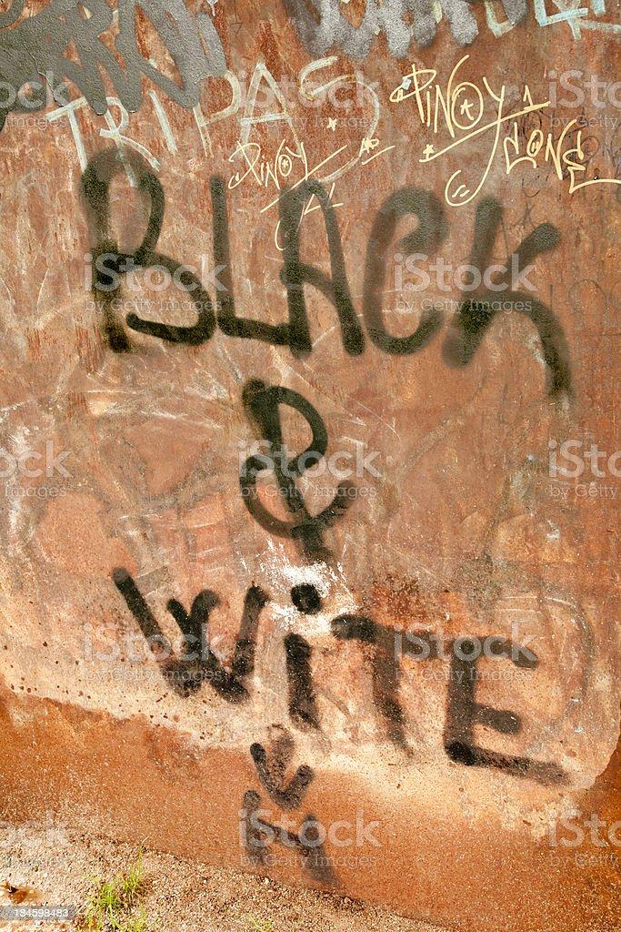 Graffiti text:misspelling stock photo