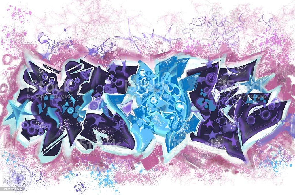 Graffiti texture design stock photo