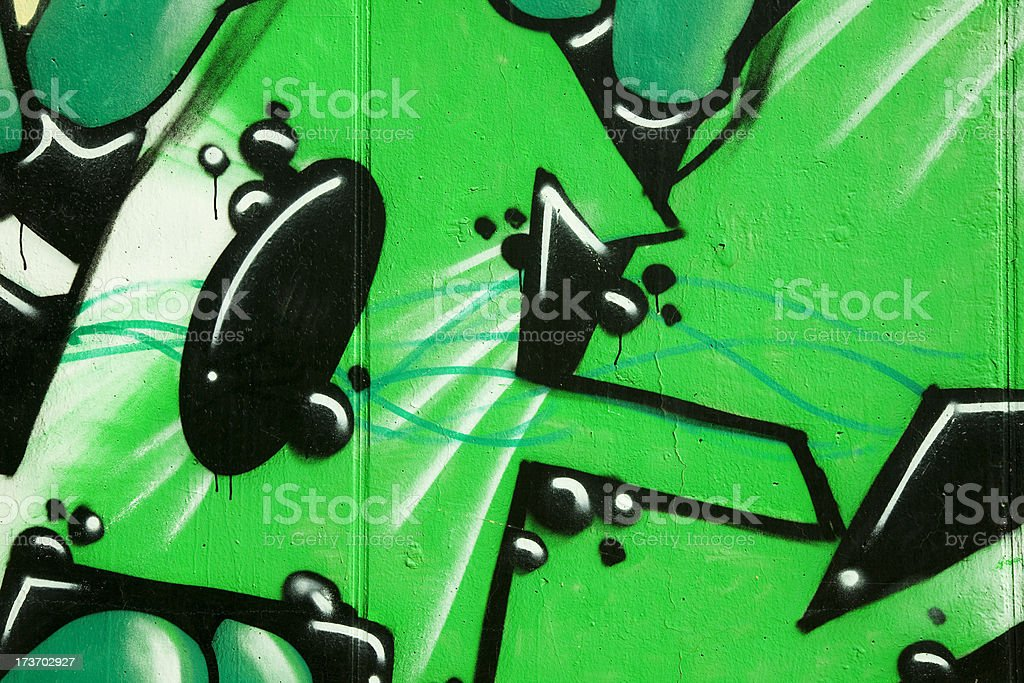 Graffiti: vandalism or urban art. Series royalty-free stock photo