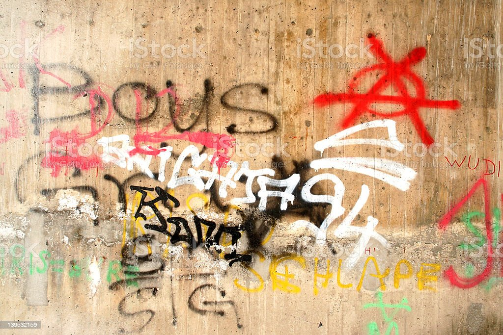 Graffiti Wall 1 royalty-free stock photo