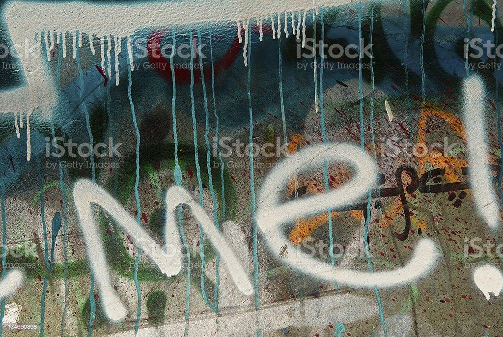 Graffiti wall royalty-free stock photo