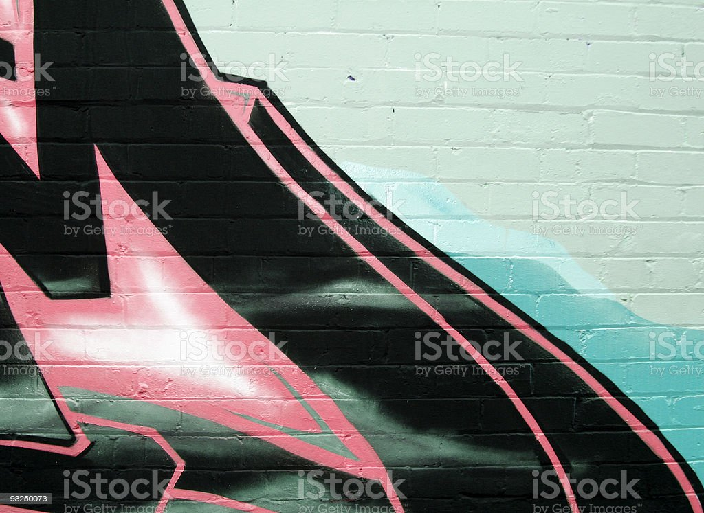 Graffiti with copy space royalty-free stock photo