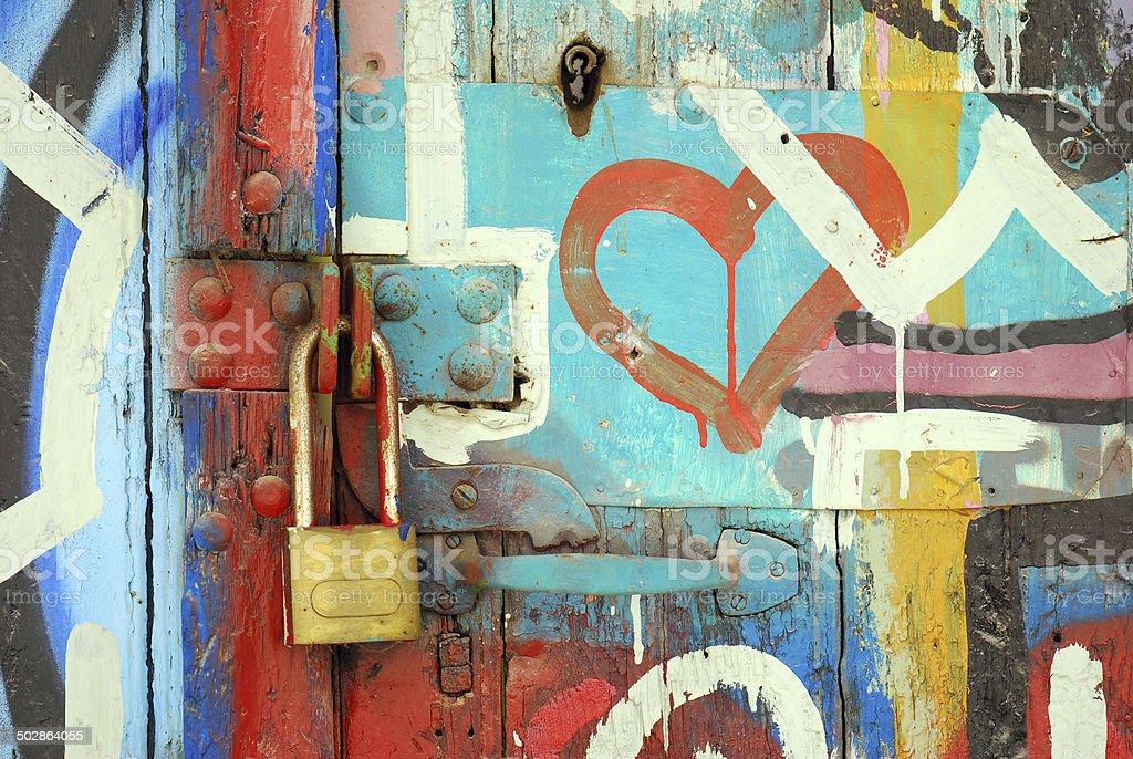 Graffiti with Heart royalty-free stock photo