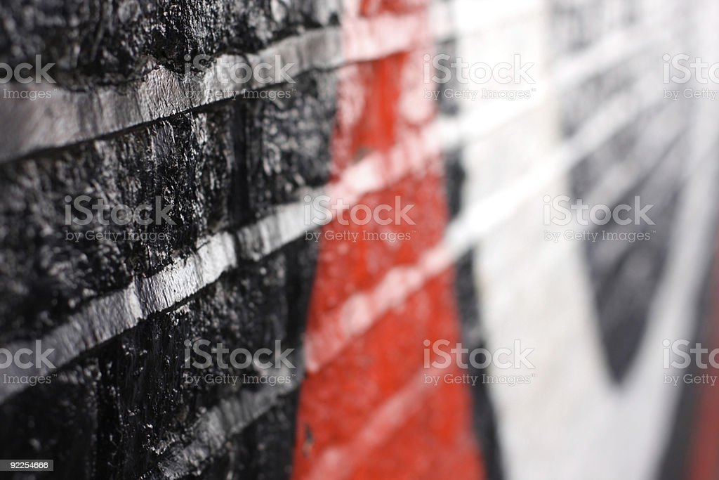 Graffiti with shallow depth of field royalty-free stock photo