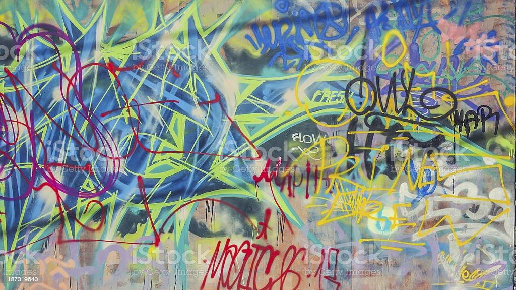 Graffitti at wall royalty-free stock photo