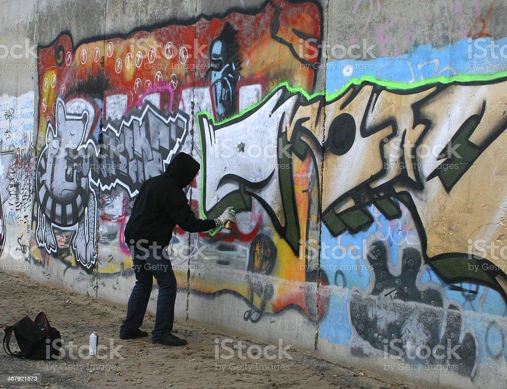 Graffity painter stock photo