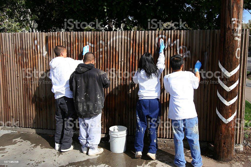 Grafiti Removers stock photo