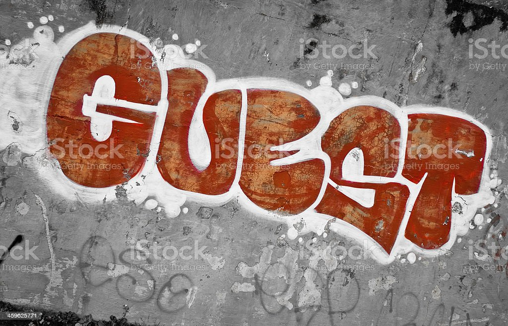 Grafitti Wall royalty-free stock photo
