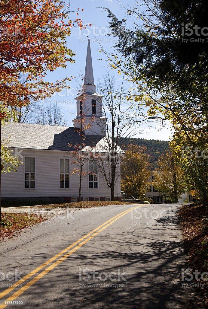Grafton Church in Fall stock photo