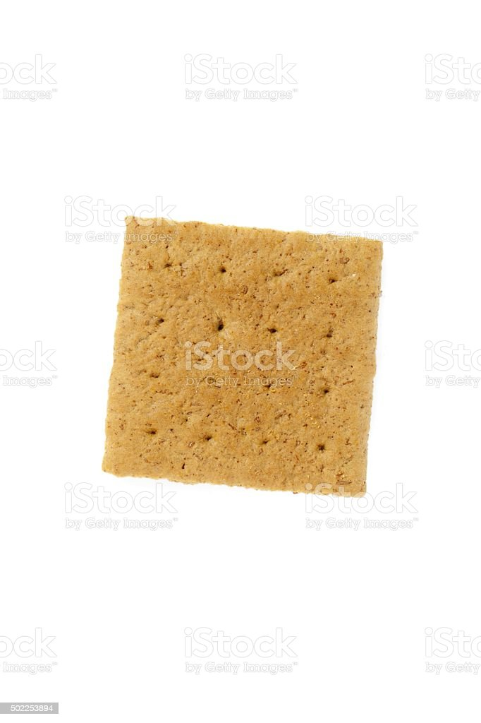 graham cracker isolated on white background stock photo