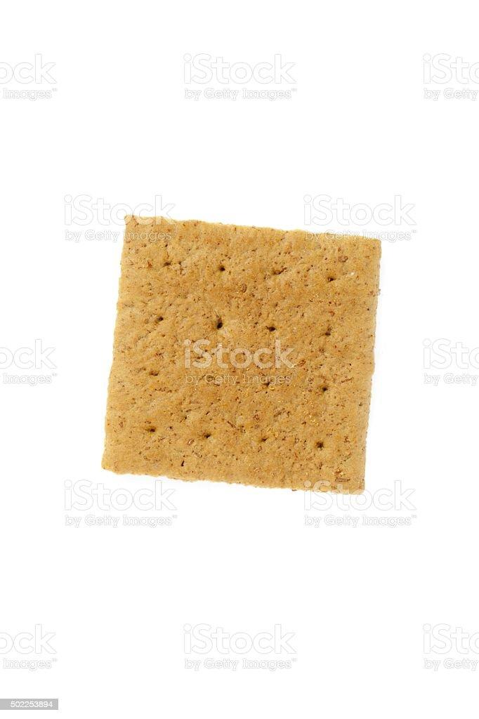 graham cracker isolated on white background stock photo