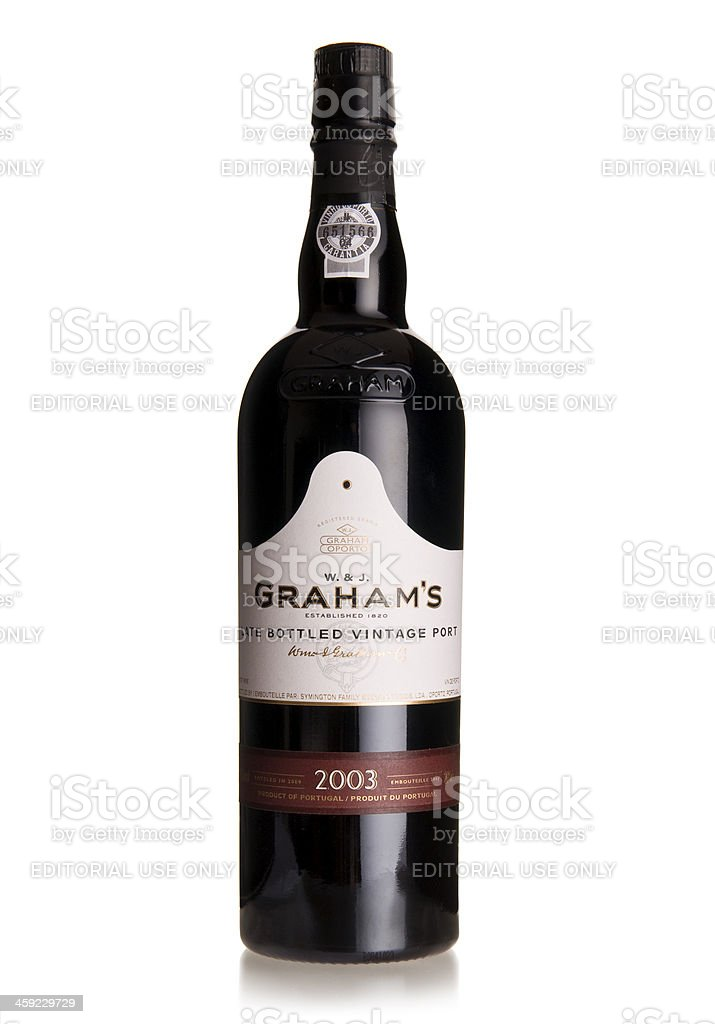 Graham's late bottled vintage port wine stock photo
