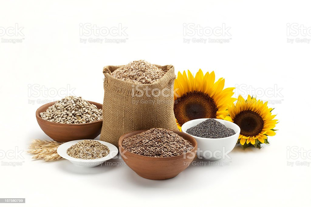 Grain and cereal composition royalty-free stock photo