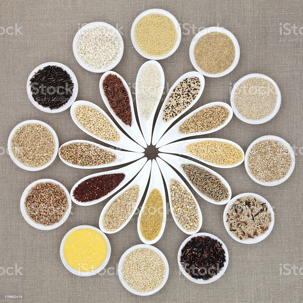 Grain and Cereal Food stock photo