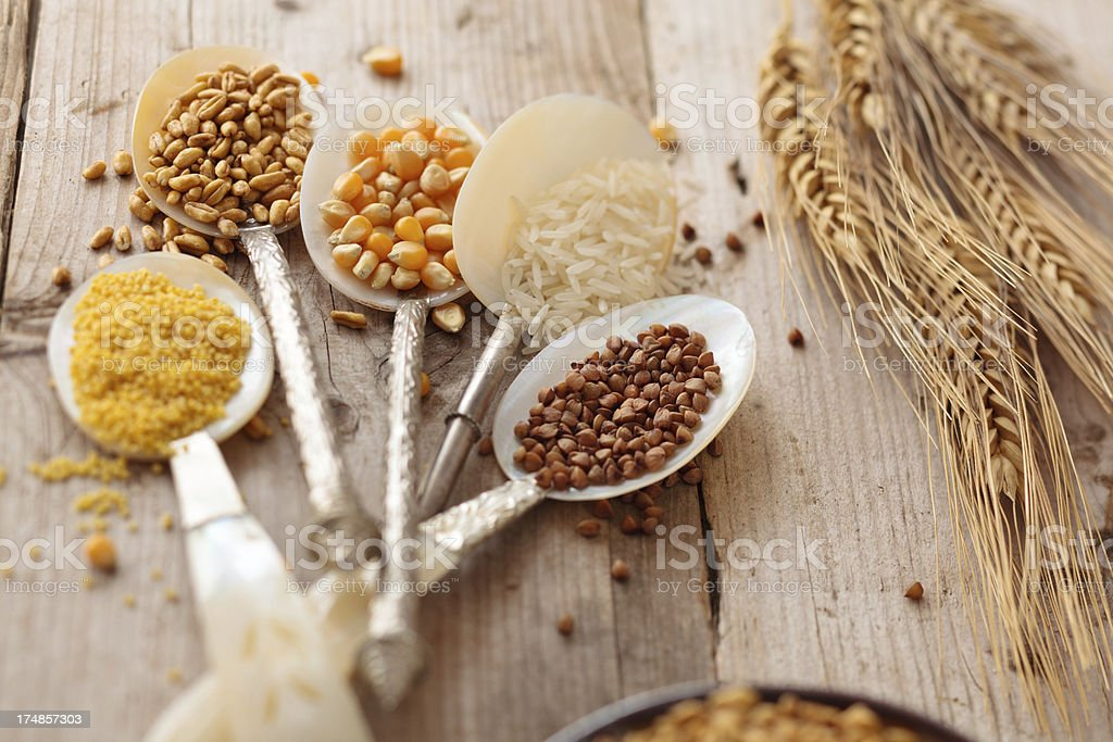 Grain and cereal. stock photo