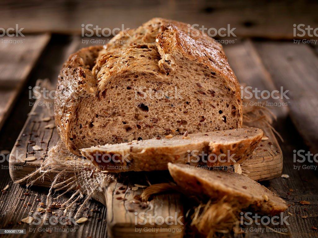 9 Grain Artisan Bread Loaf stock photo