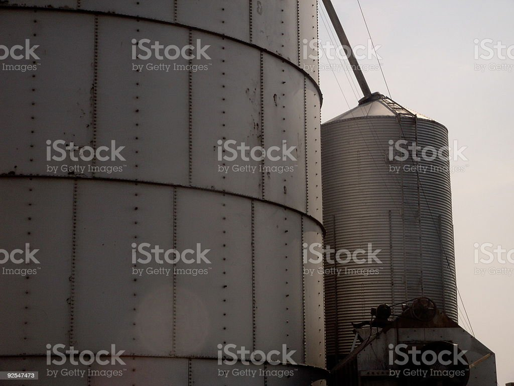 grain bin silo stock photo