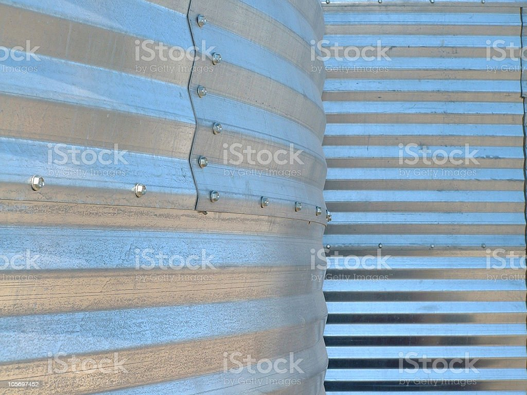 Grain Bin Texture royalty-free stock photo