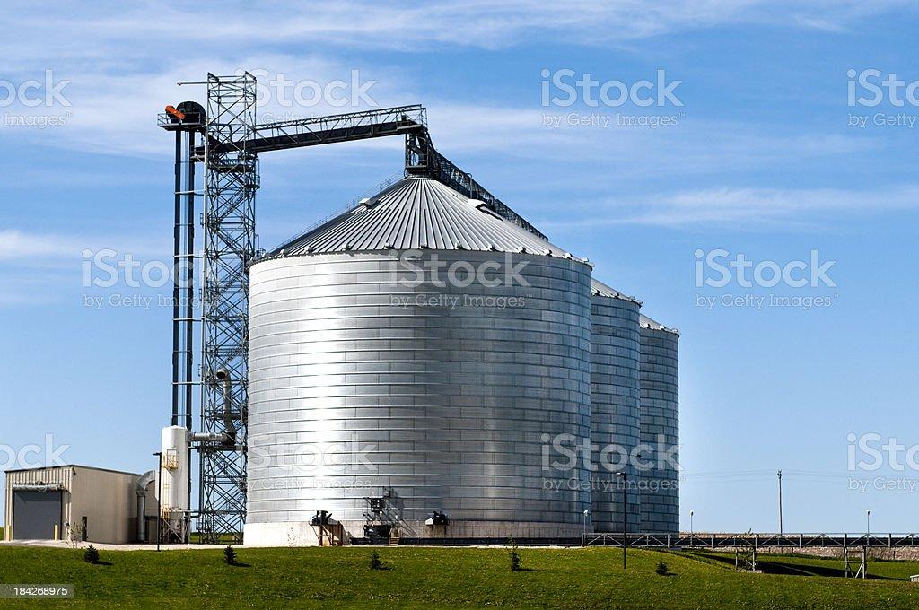 Grain Bins stock photo