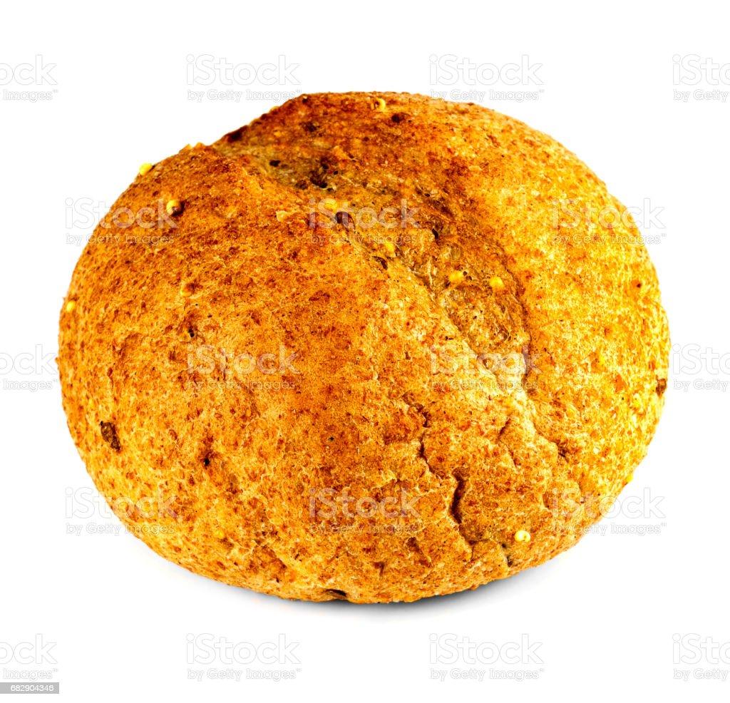 Grain bread on white background stock photo