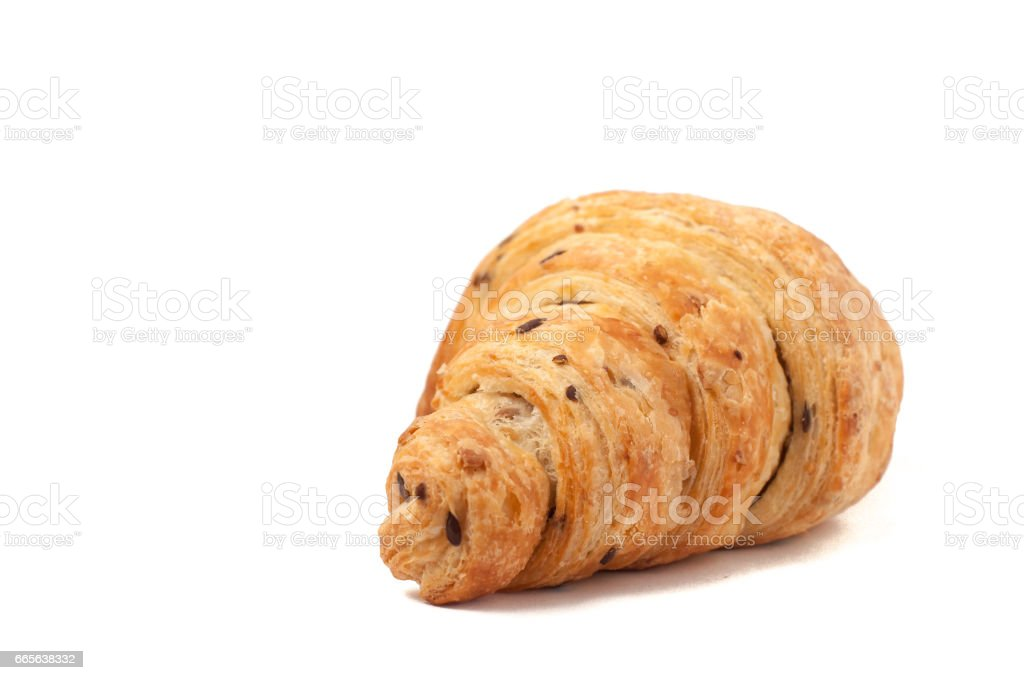 grain Croissant isolated on white background stock photo