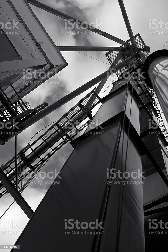 Grain Elevator Against the Sky royalty-free stock photo