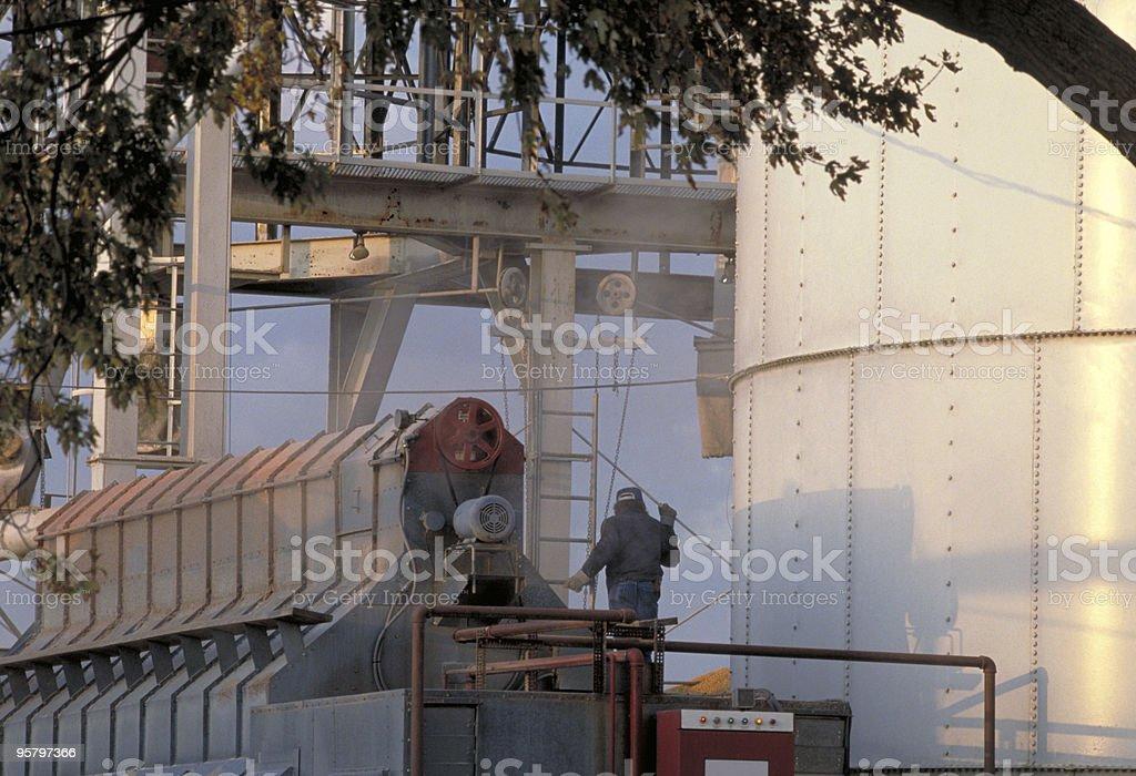 Grain Elevator at Sunset stock photo