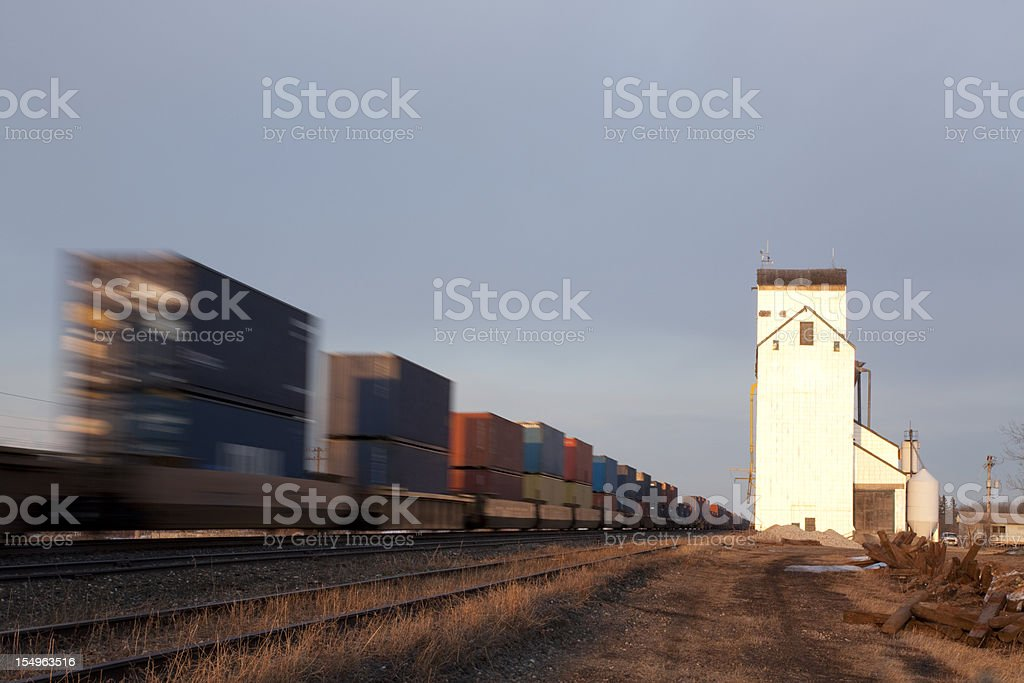 Grain Elevator royalty-free stock photo