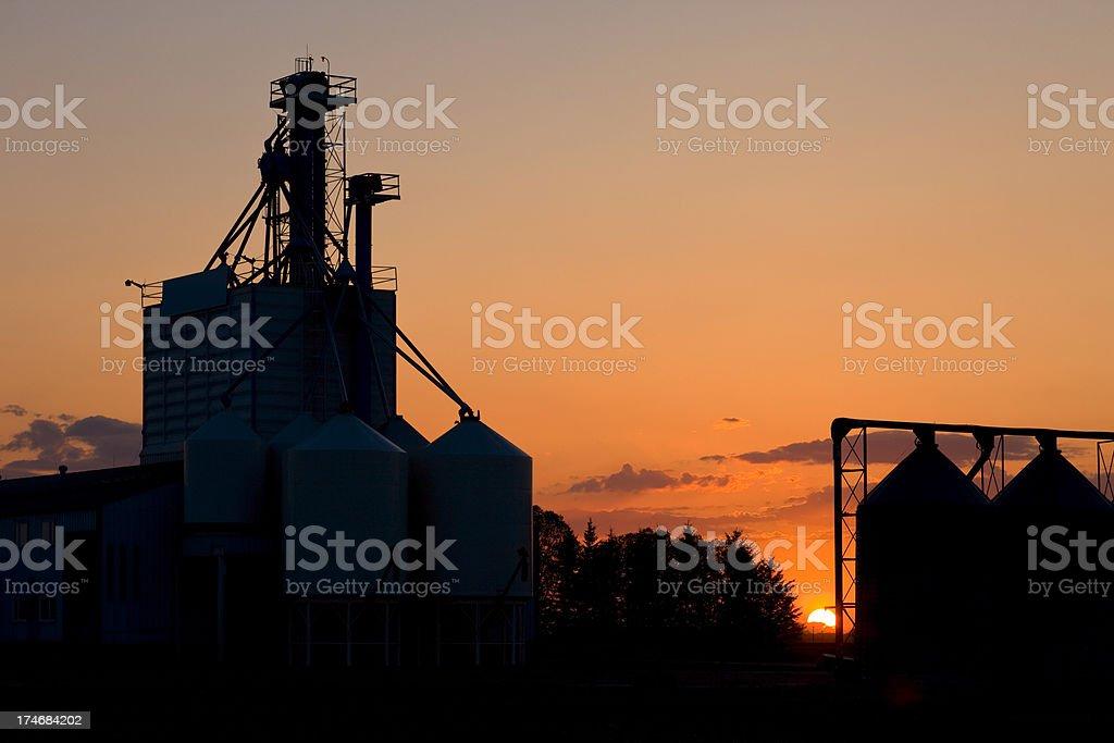 Grain Elevators and Silo stock photo