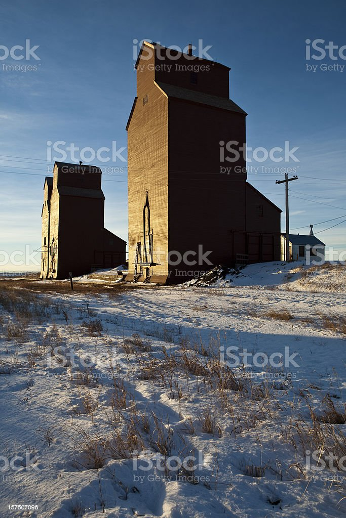 Grain Elevators royalty-free stock photo