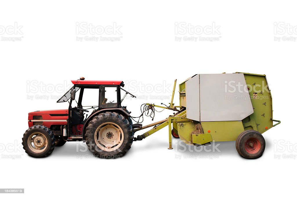 Grain farm tractor stock photo