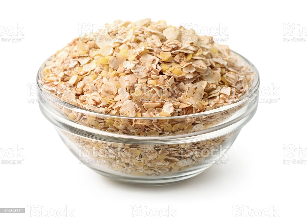 Grain flakes stock photo