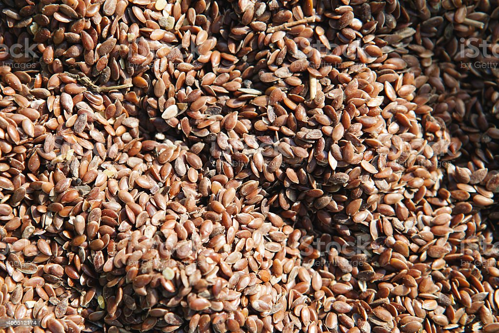 Grain. Flax. stock photo