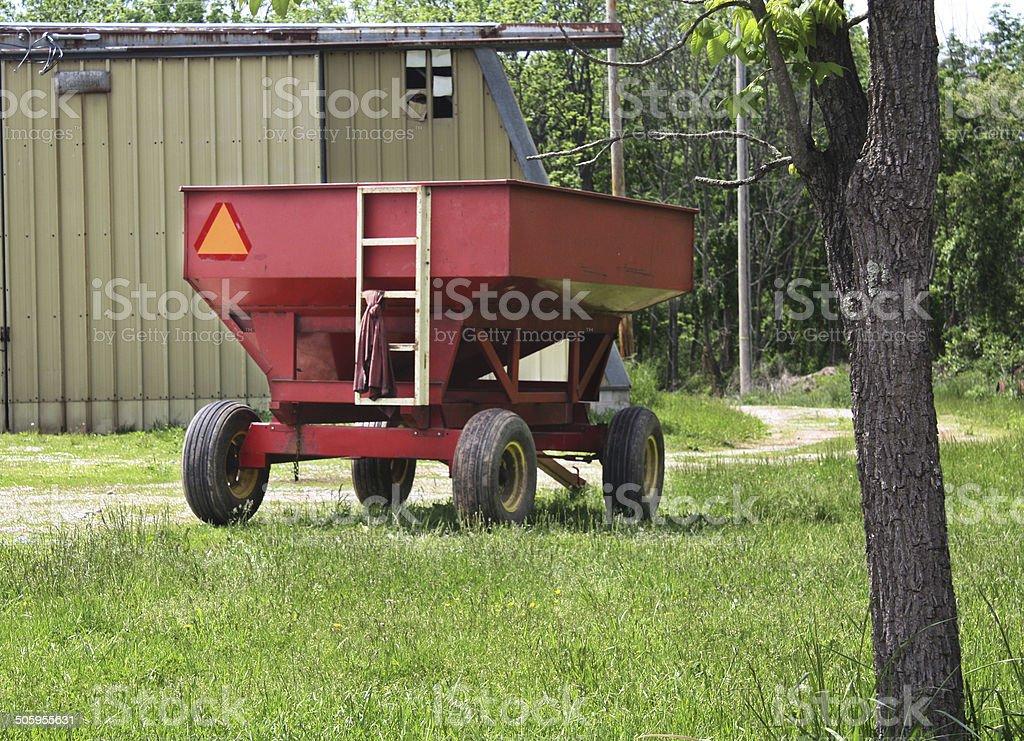 Grain Harvest Trailer stock photo