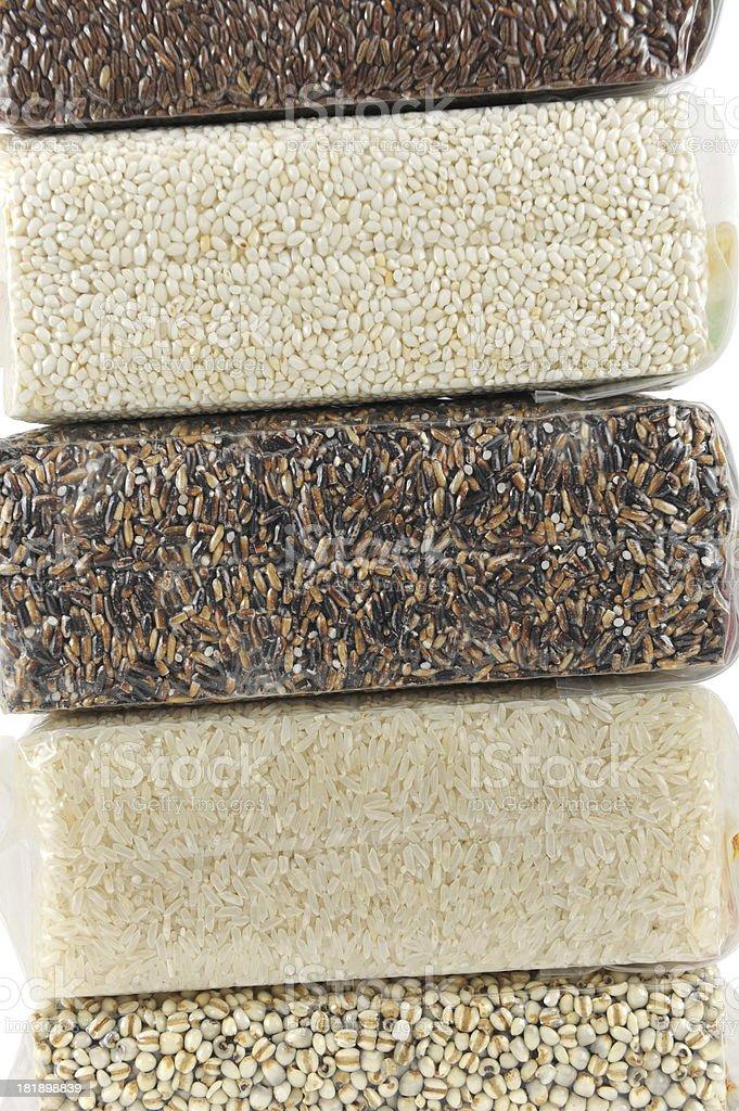 Grain in Plastic stock photo