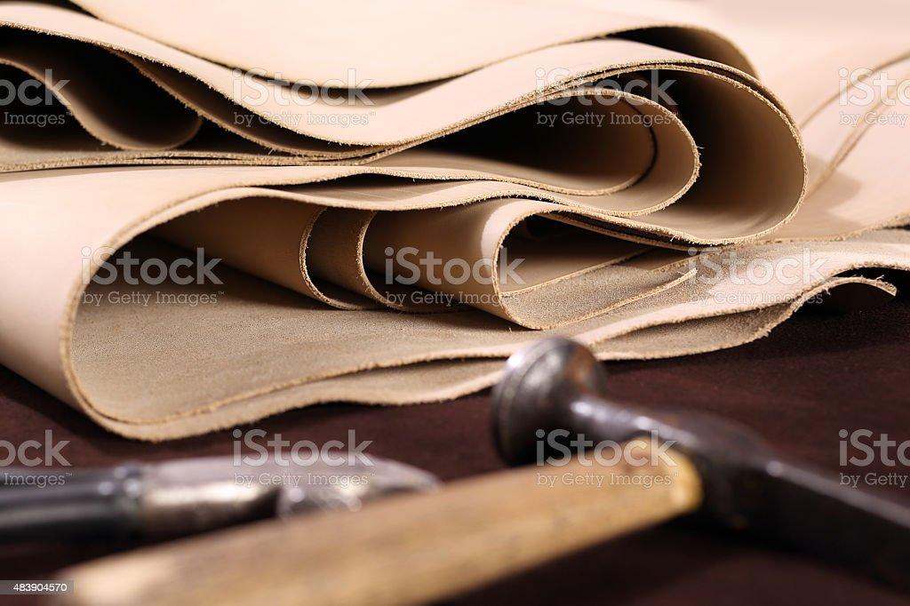 Grain leather stock photo