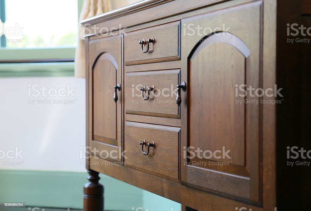Grain of wood of the woodwork furniture stock photo