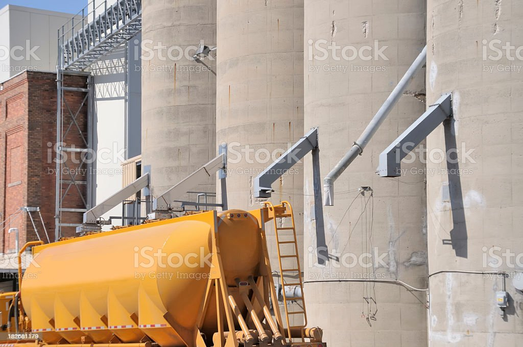 Grain Processing Facility stock photo