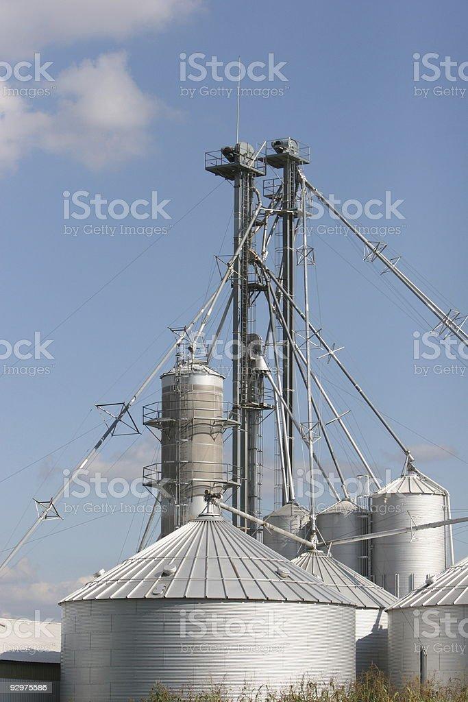 Grain processing royalty-free stock photo