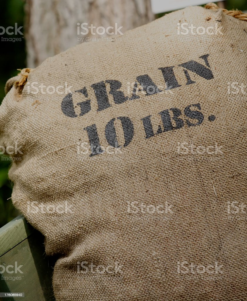 Grain Sack royalty-free stock photo