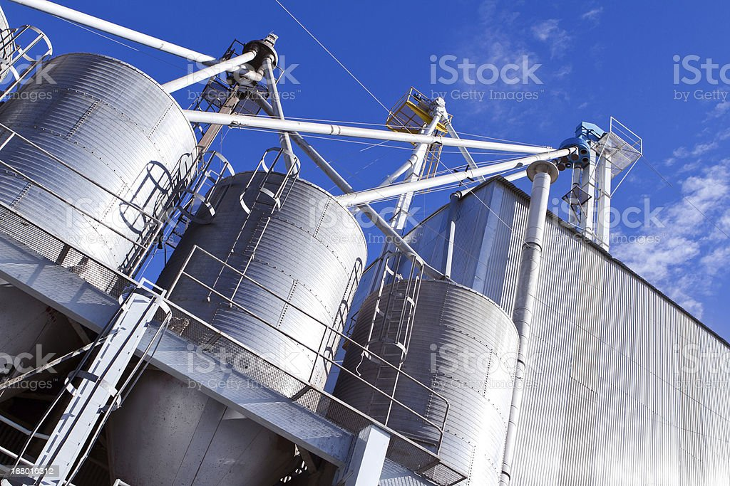 Grain Silo - Agri Business Structure stock photo