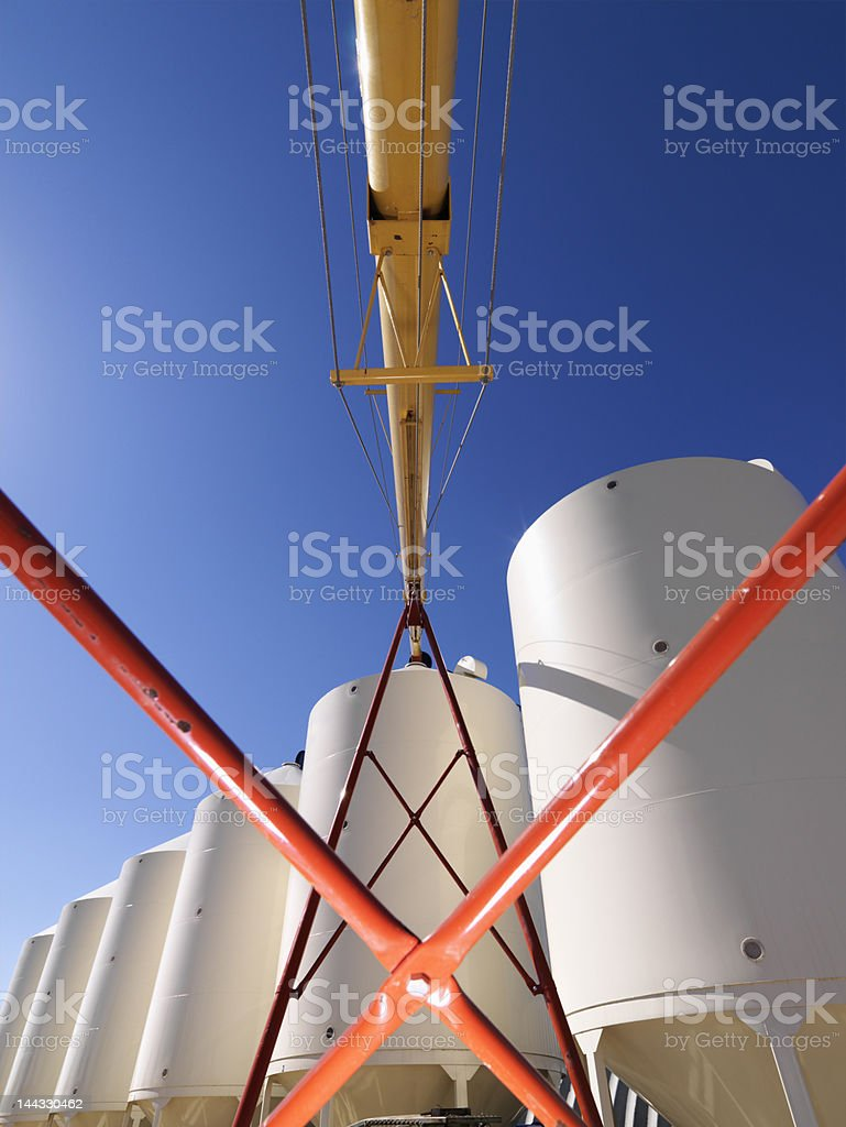 Grain silo storage. royalty-free stock photo
