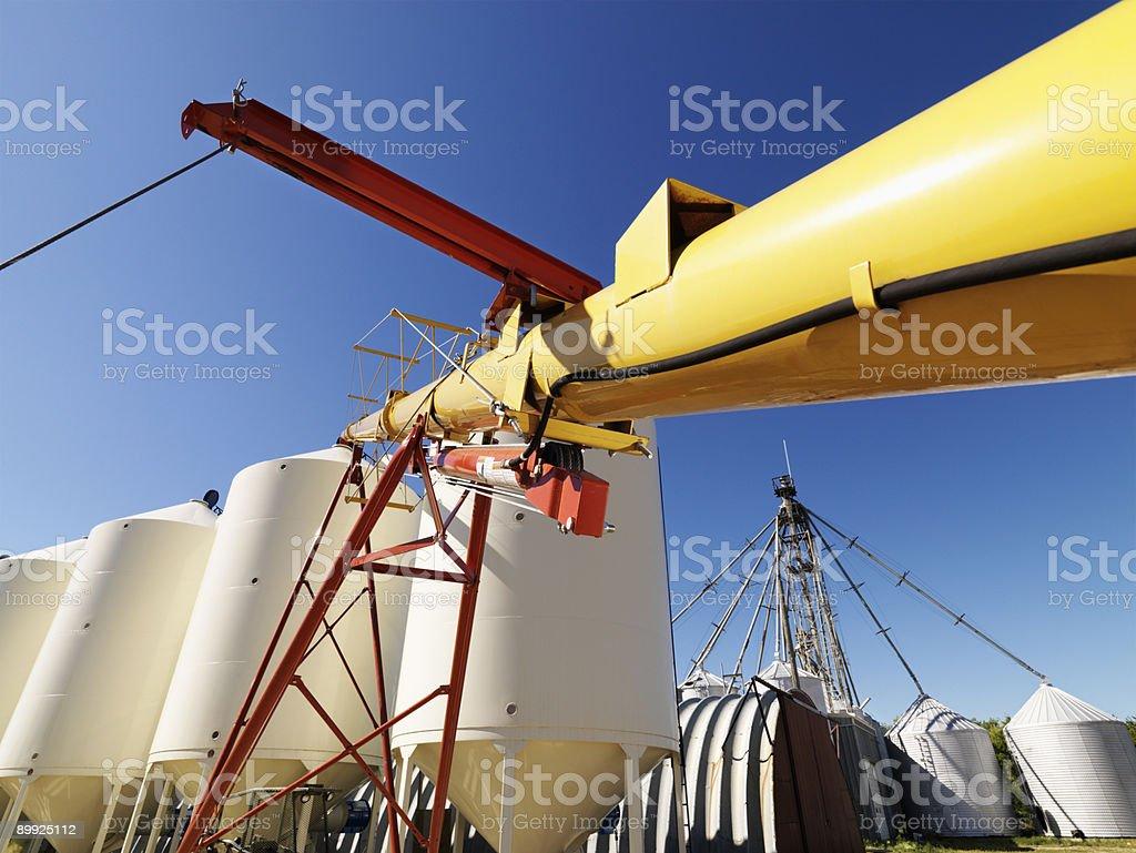Grain silo storage. royalty-free stock photo