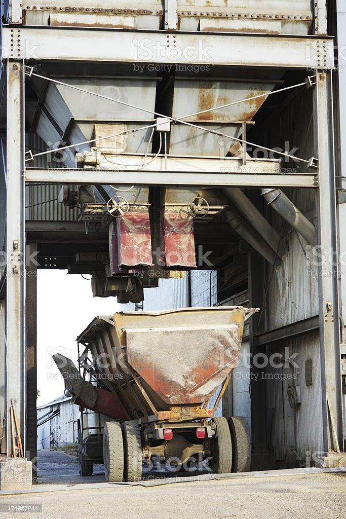 Grain Silo Truck Loading Station royalty-free stock photo