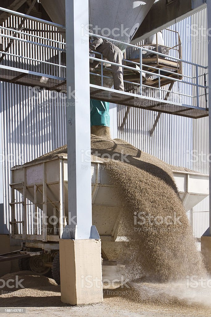Grain Silo Truck Loading Station royalty-free stock photo