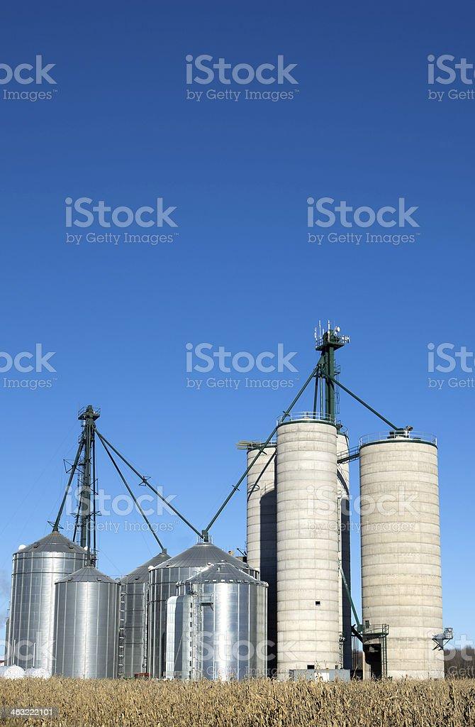 Grain Silo's and Elevator stock photo