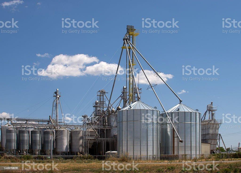Grain Silos and Elevators stock photo