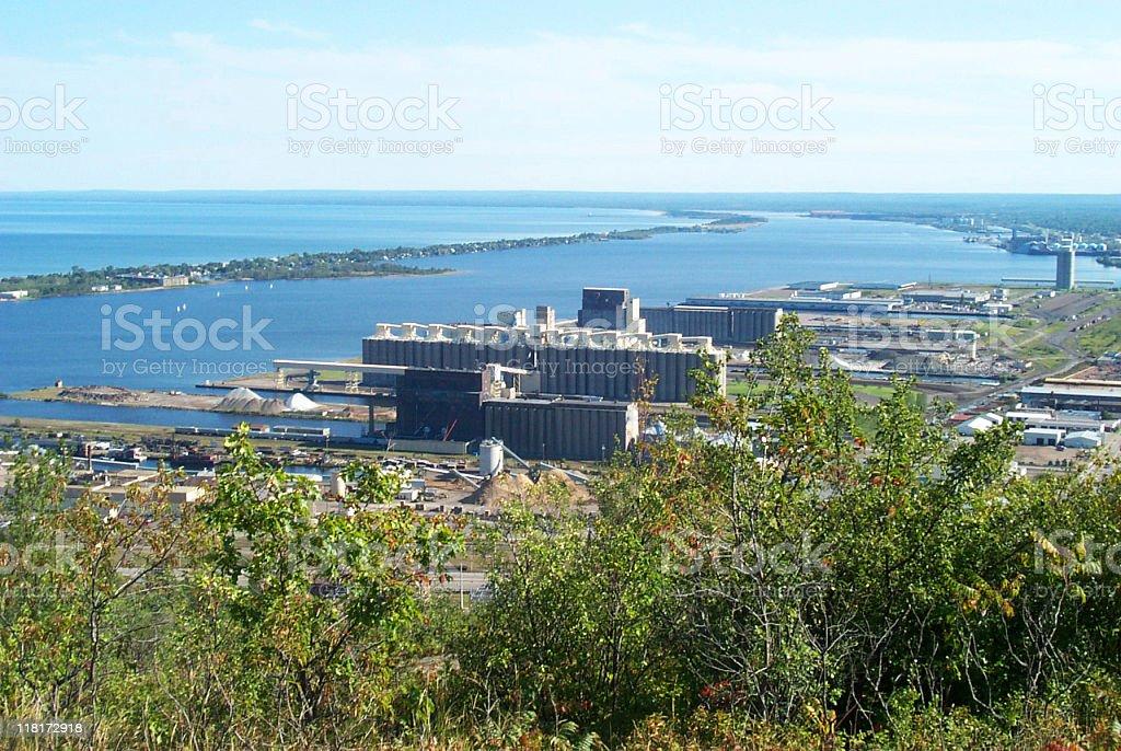 grain silos, Duluth, Minnesota stock photo