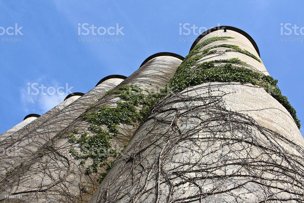 Grain Silos, Franklin TN royalty-free stock photo