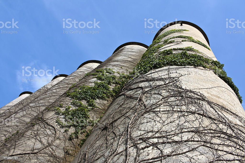 Grain Silos, Franklin TN stock photo